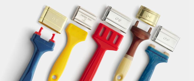 Paintbrush handles ferrules for paintbrush - flat brushes