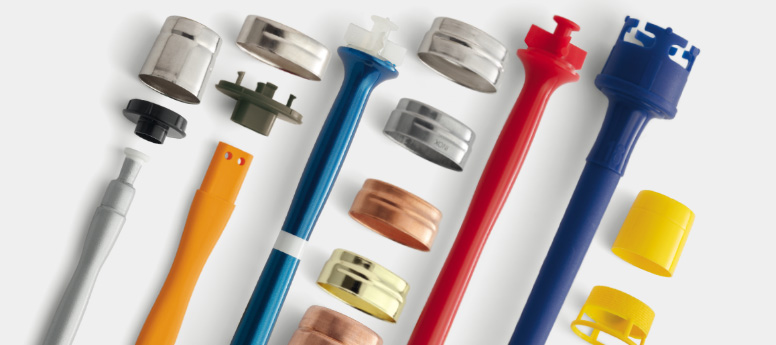 Paintbrush handles ferrules for paintbrush - round and oval
